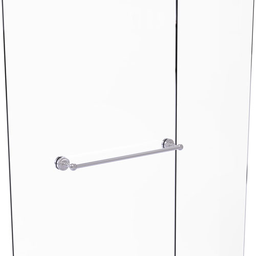 Dottingham Satin Chrome 24-Inch Shower Door Towel Bar