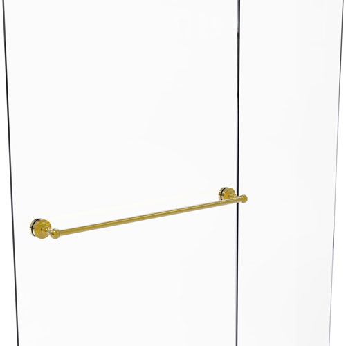 Dottingham Polished Brass 30-Inch Shower Door Towel Bar