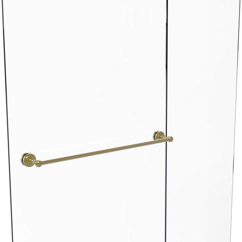 Dottingham Satin Brass 30-Inch Shower Door Towel Bar
