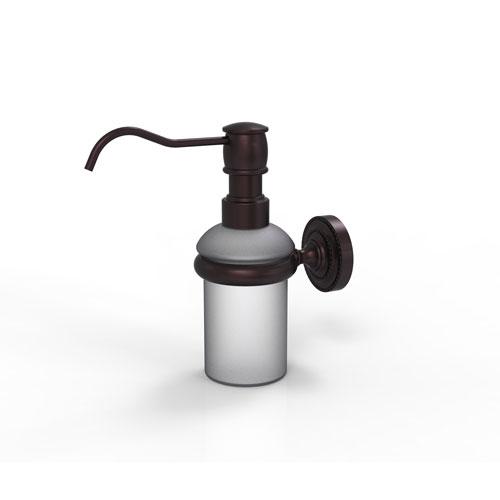 Dottingham Antique Bronze Three-Inch Wall Mounted Soap Dispenser