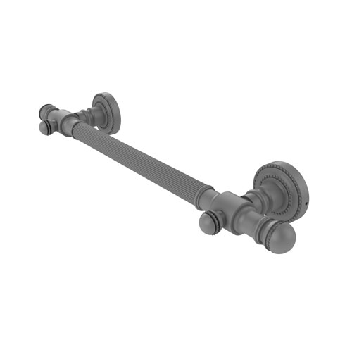 Dottingham Matte Gray 36-Inch Grab Bar Reeded