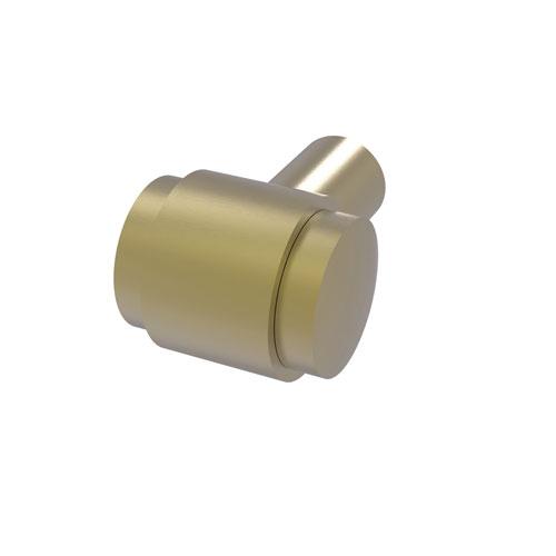 Satin Brass One-Inch Cabinet Knob