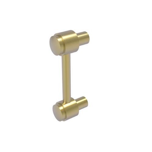 Satin Brass Three-Inch Cabinet Pull