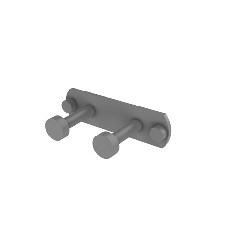 Fresno Matte Gray Three-Inch Two-Position Multi Hook