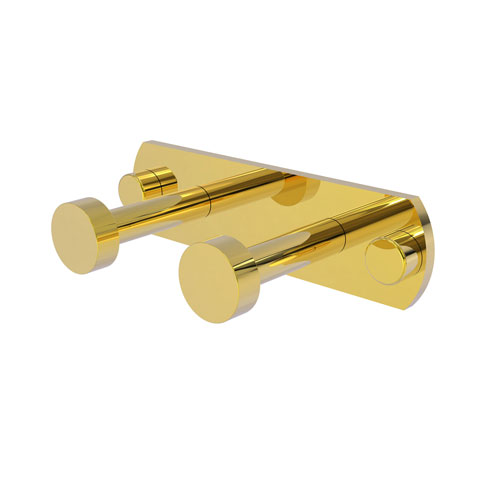 Fresno Polished Brass Three-Inch Two-Position Multi Hook