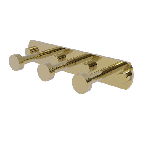 Fresno Unlacquered Brass Three-Inch Three-Position Multi Hook