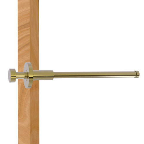 Fresno Unlacquered Brass Two-Inch Retractable Pullout Garment Rod