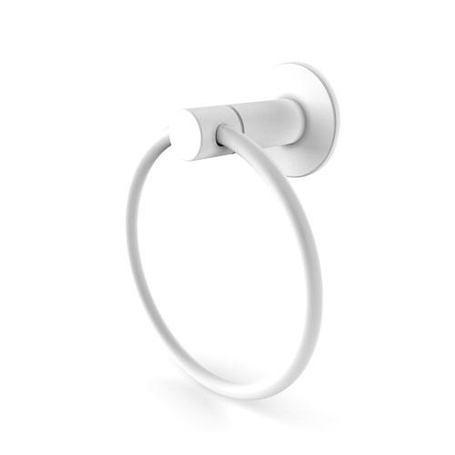 Foxtrot Matte White Six-Inch Towel Ring