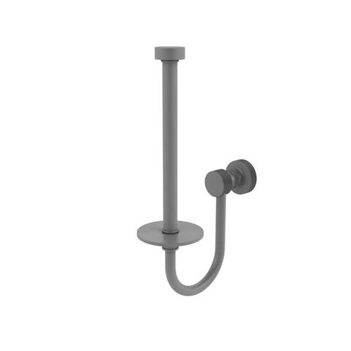 Foxtrot Matte Gray Five-Inch Upright Toilet Tissue Holder
