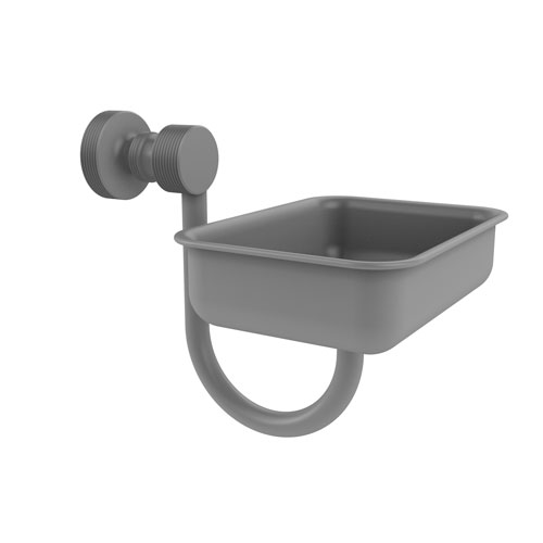 Foxtrot Matte Gray Four-Inch Wall Mounted Soap Dish