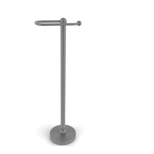 Matte Gray 26-Inch Free Standing Toilet Tissue Stand