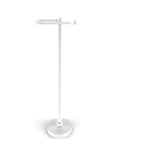 Matte White 26-Inch Free Standing Toilet Tissue Stand