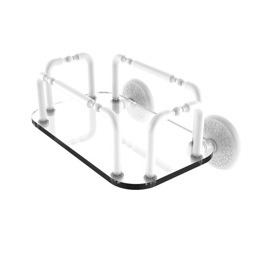 Monte Carlo Matte White Eight-Inch Mounted Guest Towel Holder