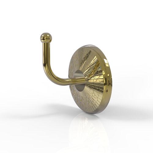 Monte Carlo Unlacquered Brass Three-Inch Robe Hook