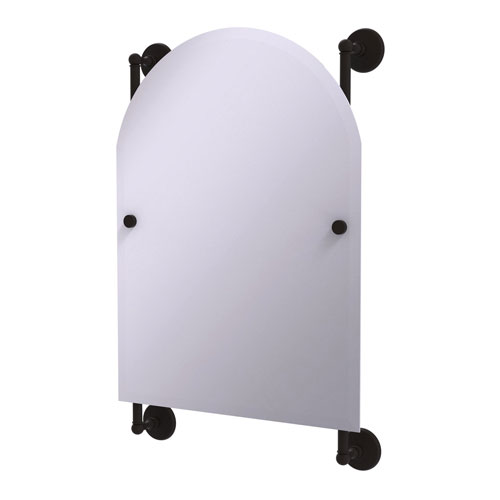 Monte Carlo Oil Rubbed Bronze 21-Inch Arched Top Frameless Rail Mounted Mirror