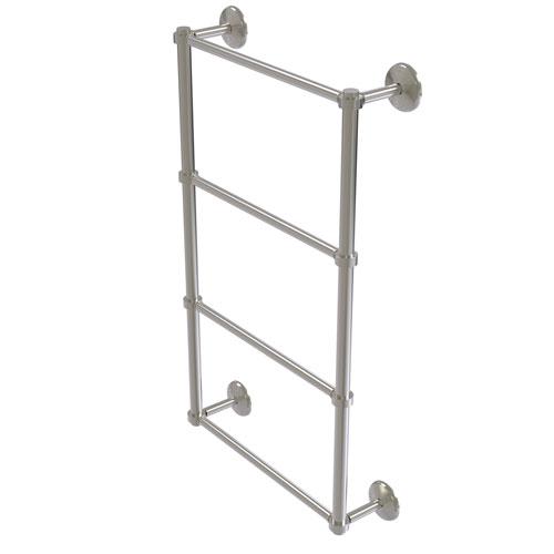 Monte Carlo Satin Nickel 36-Inch Four-Tier Ladder Towel Bar