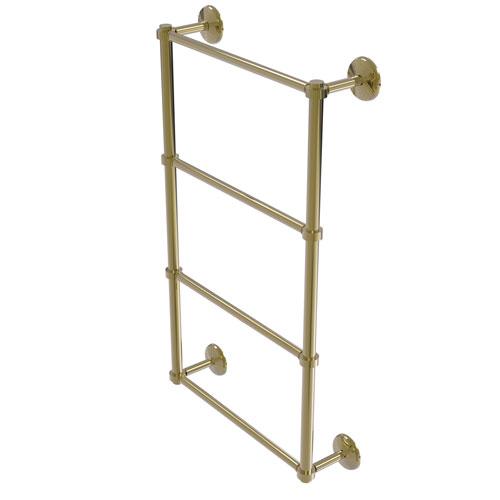 Monte Carlo Unlacquered Brass 36-Inch Four-Tier Ladder Towel Bar