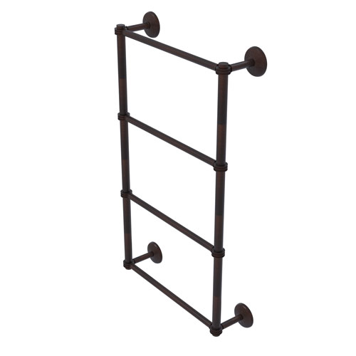 Monte Carlo Venetian Bronze 24-Inch Four Tier Ladder Towel Bar with Dotted Detail