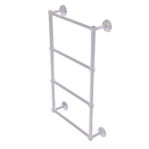 Monte Carlo Satin Chrome 30-Inch Four Tier Ladder Towel Bar with Groovy Detail