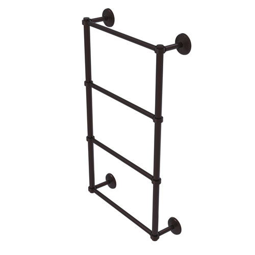 Monte Carlo Antique Bronze 36-Inch Four Tier Ladder Towel Bar with Groovy Detail