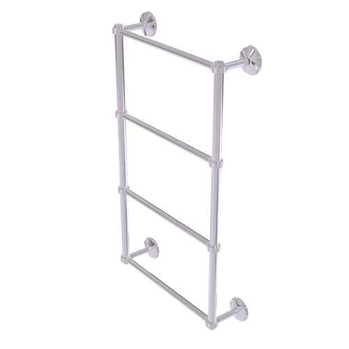 Monte Carlo Polished Chrome 36-Inch Four Tier Ladder Towel Bar with Groovy Detail