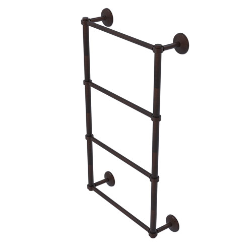Monte Carlo Venetian Bronze 36-Inch Four Tier Ladder Towel Bar with Groovy Detail