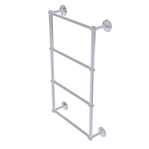 Monte Carlo Polished Chrome 30-Inch Four-Tier Ladder Towel Bar with Twisted Detail