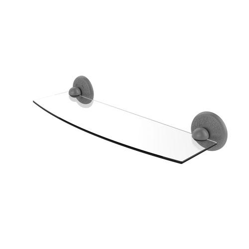 Monte Carlo Matte Gray 18-Inch Glass Shelf