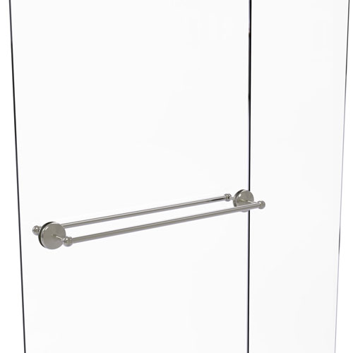 Monte Carlo Satin Nickel 30-Inch Back to Back Shower Door Towel Bar