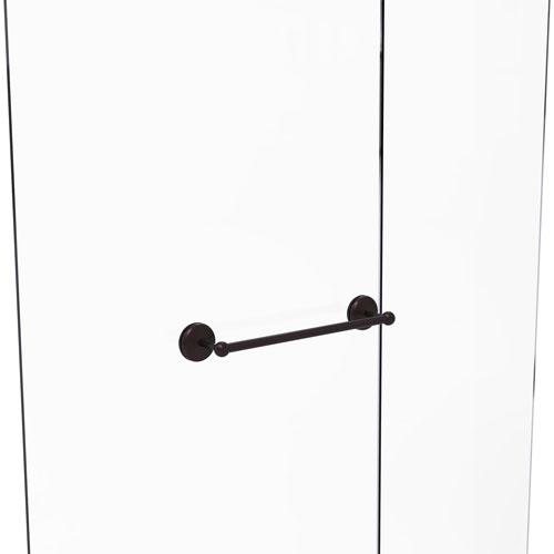 Monte Carlo Antique Bronze 18-Inch Shower Door Towel Bar