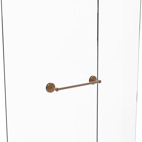 Monte Carlo Brushed Bronze 18-Inch Shower Door Towel Bar