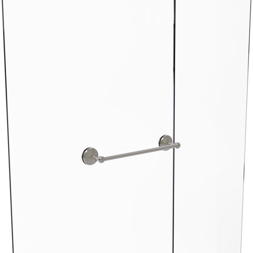 Monte Carlo Satin Nickel 18-Inch Shower Door Towel Bar