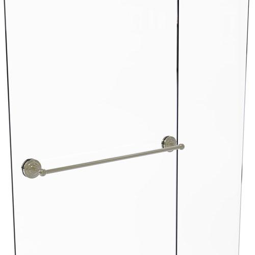 Monte Carlo Polished Nickel 30-Inch Shower Door Towel Bar
