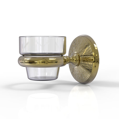 Monte Carlo Unlacquered Brass Three-Inch Wall Mounted Votive Candle Holder