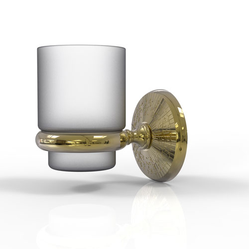 Monte Carlo Unlacquered Brass Three-Inch Wall Mounted Tumbler Holder