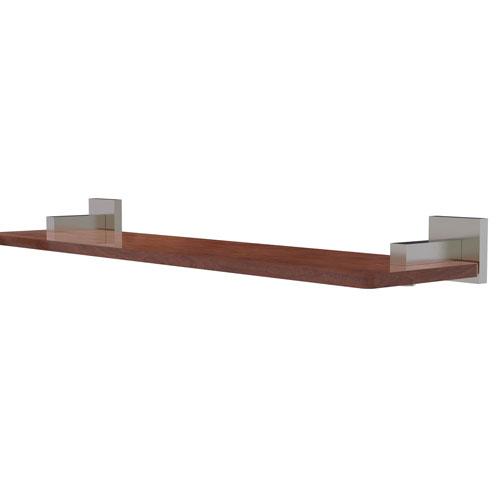 Montero Satin Nickel 22-Inch Solid IPE Ironwood Shelf