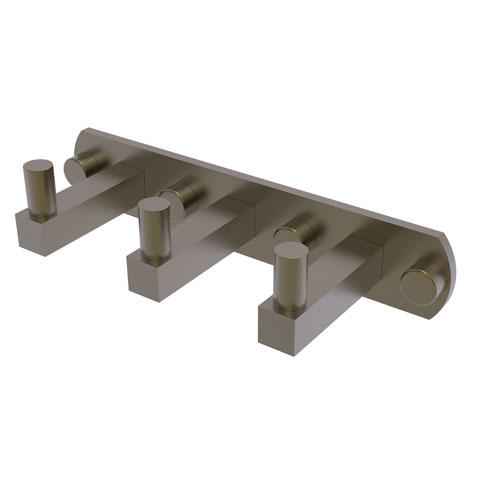 Montero Antique Brass Three-Inch Three-Position Multi Hook