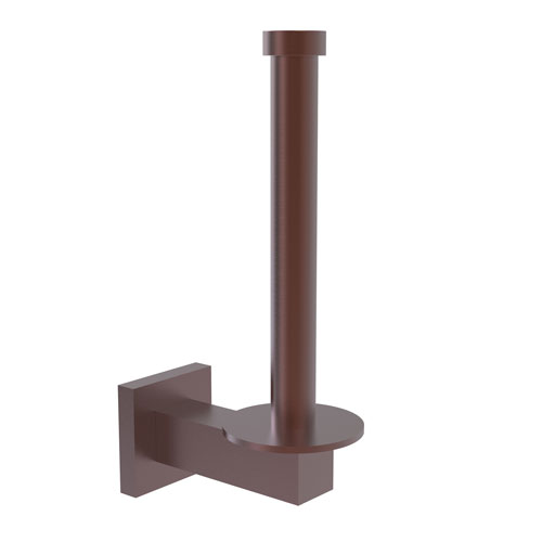 Montero Antique Copper Four-Inch Upright Toilet Tissue Holder and Reserve Roll Holder