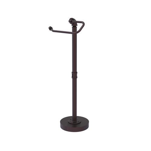 Pipeline Antique Bronze Eight-Inch Free Standing Toilet Tissue Stand
