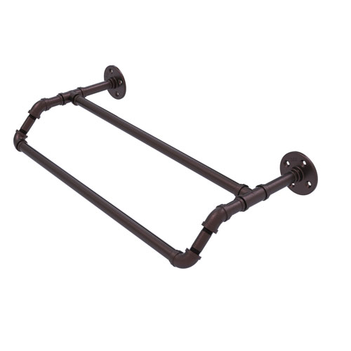 Pipeline Antique Bronze 24-Inch Double Towel Bar