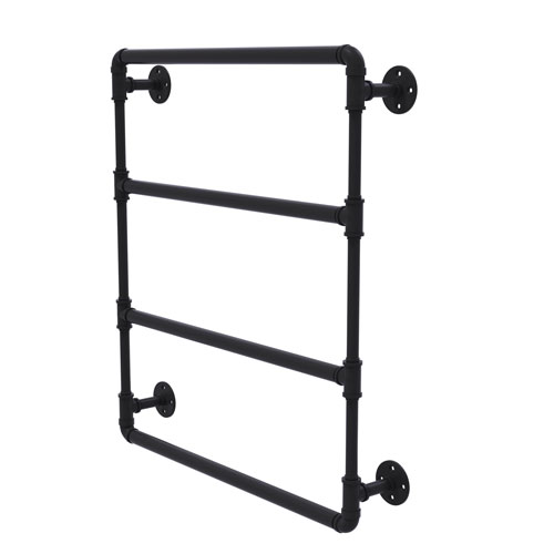 Pipeline Matte Black 30-Inch Wall Mounted Ladder Towel Bar