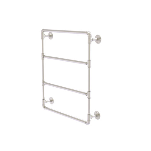 Pipeline Satin Nickel 30-Inch Wall Mounted Ladder Towel Bar