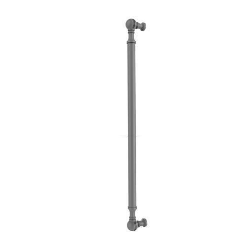 Matte Gray 18-Inch Beaded Refrigerator Pull