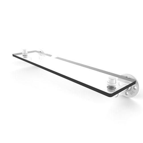 Pipeline Matte White 22-Inch Glass Shelf
