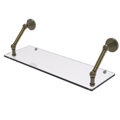 Prestige Skyline Antique Brass 24-Inch Floating Glass Shelf