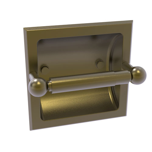 Prestige Skyline Antique Brass Six-Inch Recessed Toilet Paper Holder