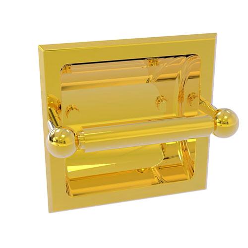 Prestige Skyline Polished Brass Six-Inch Recessed Toilet Paper Holder