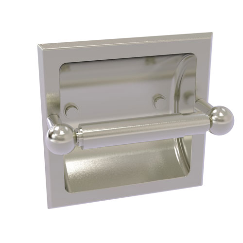 Prestige Skyline Satin Nickel Six-Inch Recessed Toilet Paper Holder