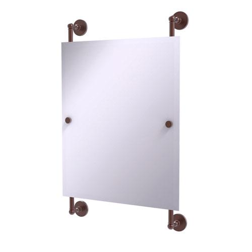 Prestige Skyline Antique Copper 21-Inch Rectangular Frameless Rail Mounted Mirror