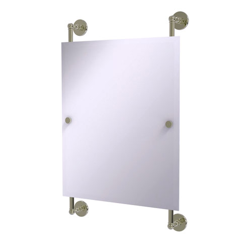 Prestige Skyline Polished Nickel 21-Inch Rectangular Frameless Rail Mounted Mirror